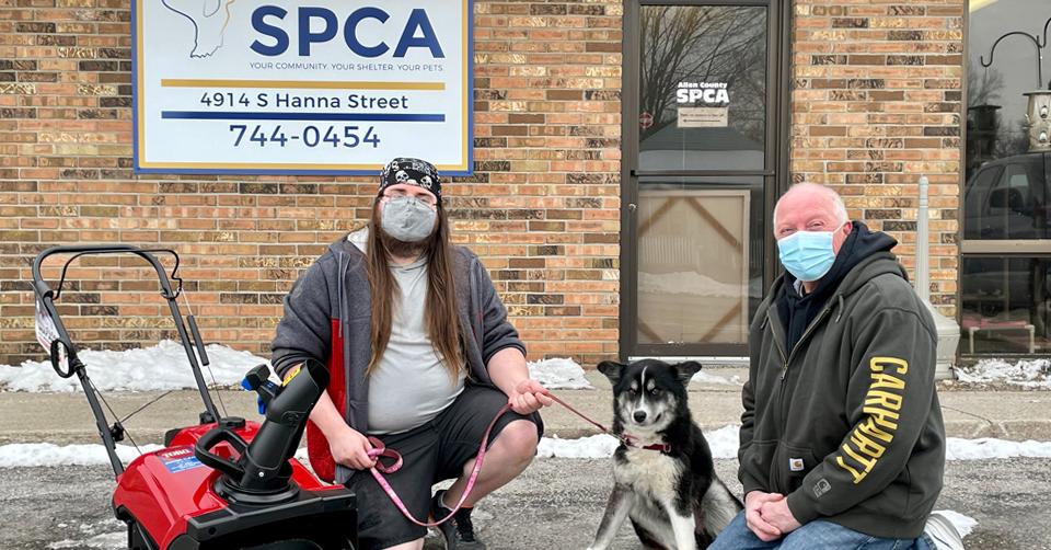 donate snowblower to spca